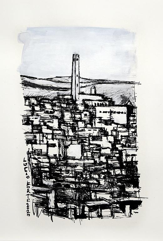 Untitled 42 - Lucio Forte - China e acrilico su carta - 75 €