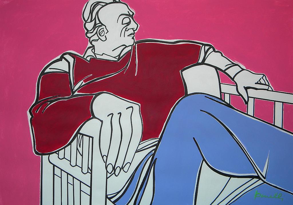 Ritratto di Renato Guttuso - Gabriele Donelli - Acrilico - 1600 €