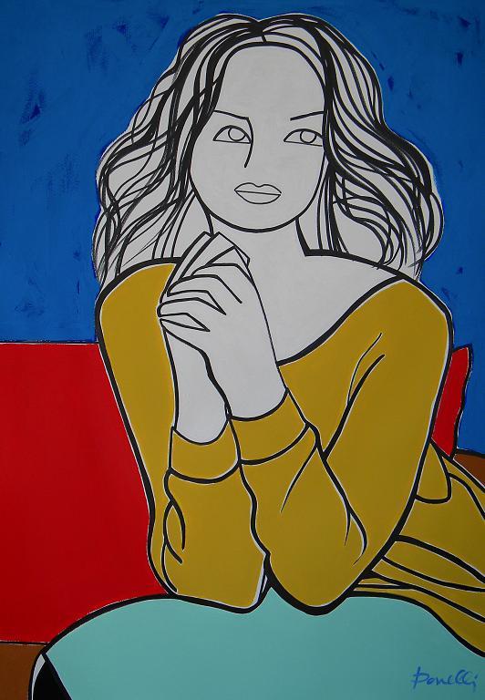 Ritratto di ragazza - Gabriele Donelli - Acrilico - 500 €