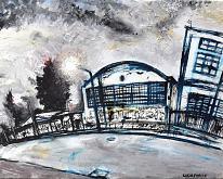 Casasco Street - Lucio Forte - olio, china ed acrilico su tela - 170€