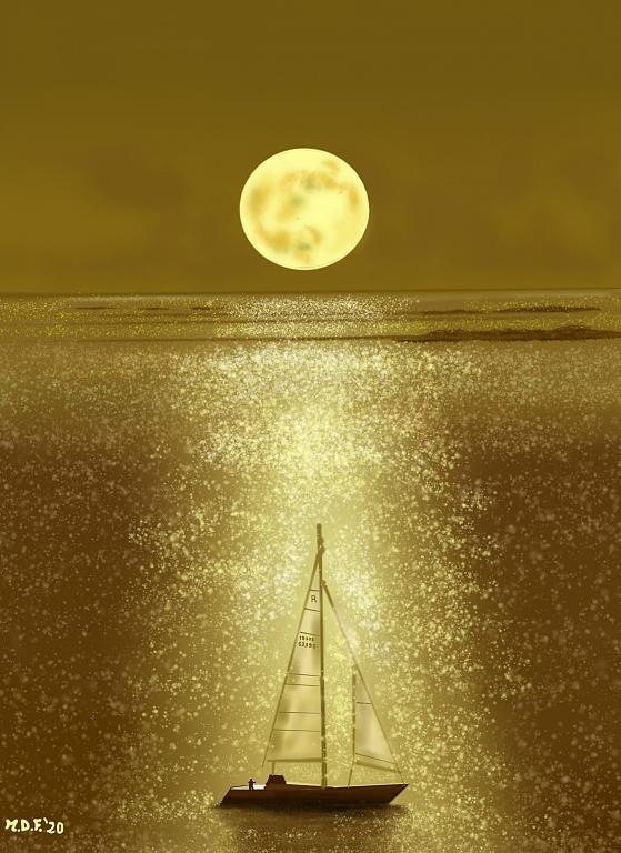 Sul mare dorato - Michele De Flaviis - Digital Art
