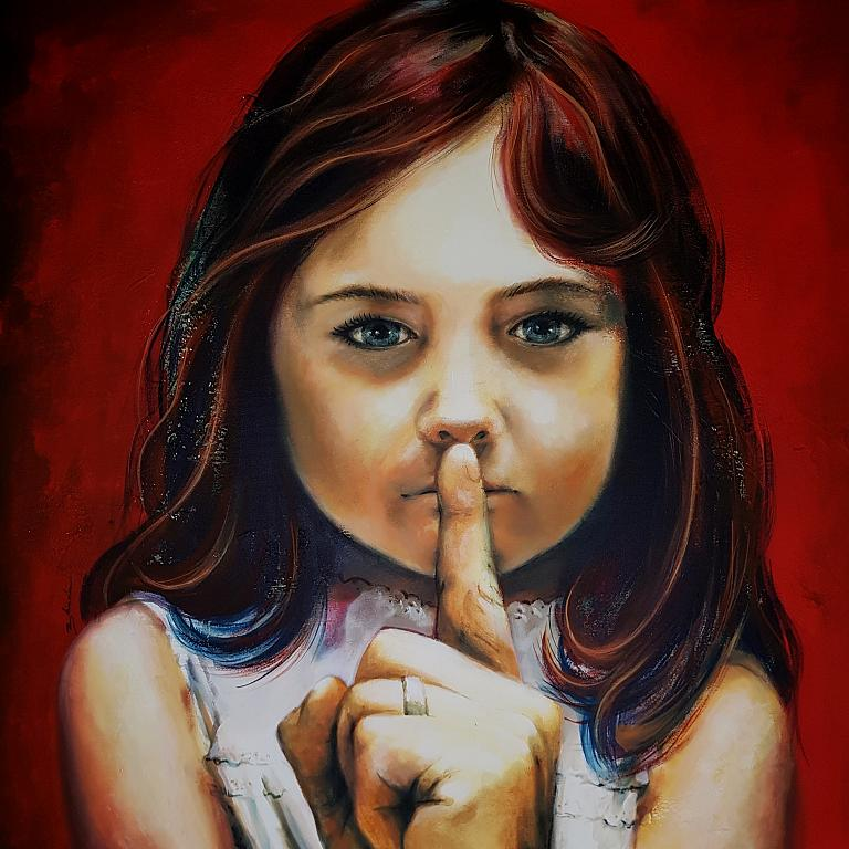 Una brava bambina  - Mery BLINDU - Acrilico