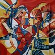 Balla con me  - Mery BLINDU - Acrilico - 780€