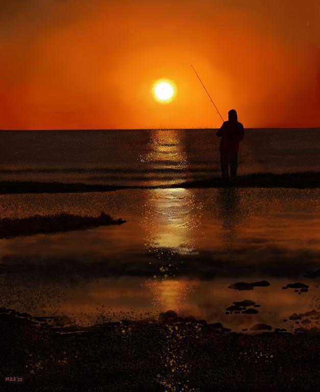 L'alba del pescatore - Michele De Flaviis - Digital Art