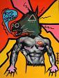 il seduttore - Noah Borger - acrilico e serigrafia su tela - 250 €