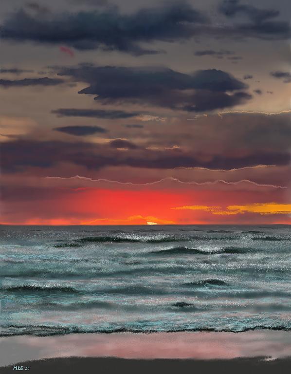 Rosso di sera - Michele De Flaviis - Digital Art - 60 €