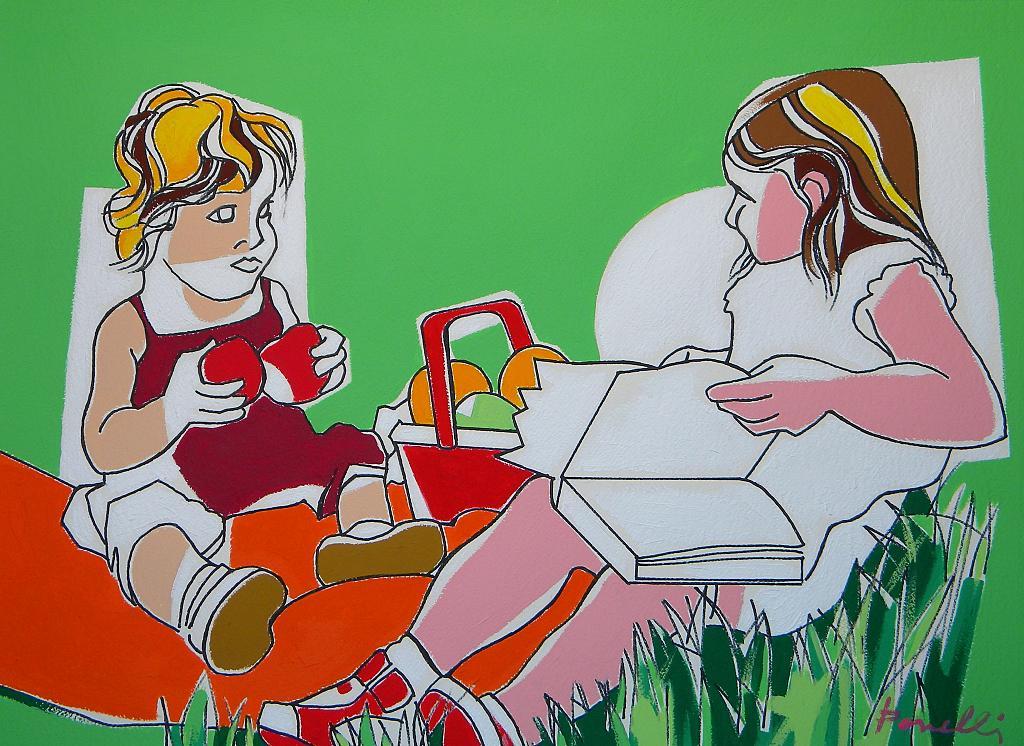 Le dejeuner sur l'herbe - Gabriele Donelli - Acrilico - 600 €