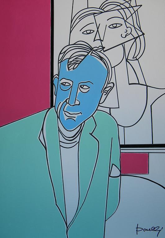 Ritratto di Georges Braque  - Gabriele Donelli - Acrilico - 1100 €