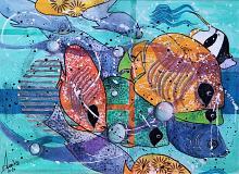 Pesci felici - anna casu - Acrilico