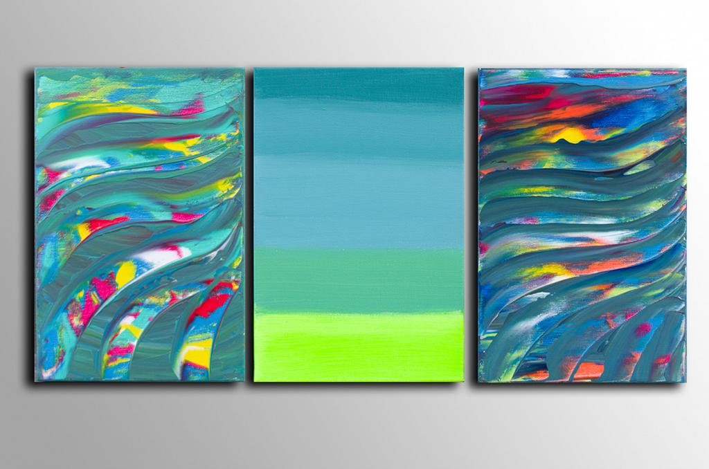 You are in the middle, Triptych - Davide De Palma - Acrilico - 150 €