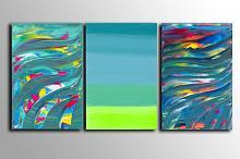 You are in the middle, Triptych - Davide De Palma - Acrilico - 150€