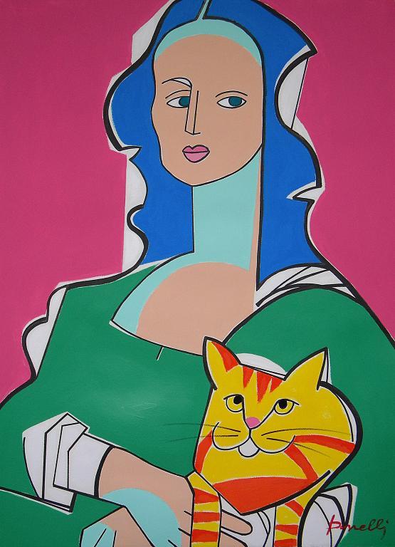 Ritratto di Monna Lisa - Gabriele Donelli - Acrilico - 1800 €