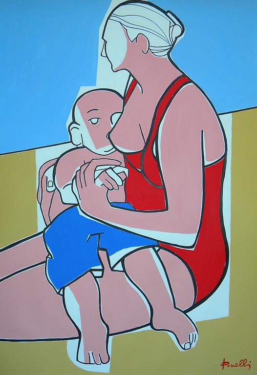 Maternità - Gabriele Donelli - Acrilico - 1900 €