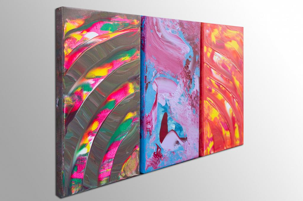 Burning soul, Triptych - Davide De Palma - Acrilico - 150 €