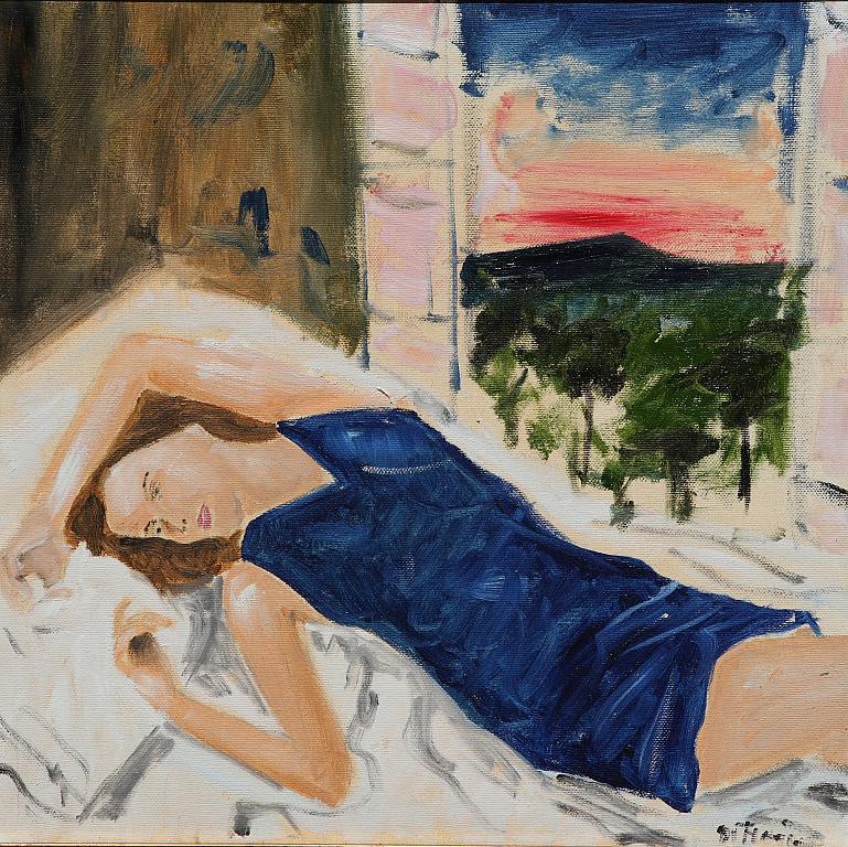 Modella nello studio - Nino Di Troia - Olio - 250 €