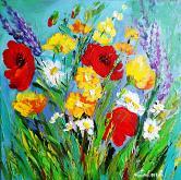 Serenità in fiori di campo - PREZZO SPECIALE  - Carla Colombo - Acrilico - 95€