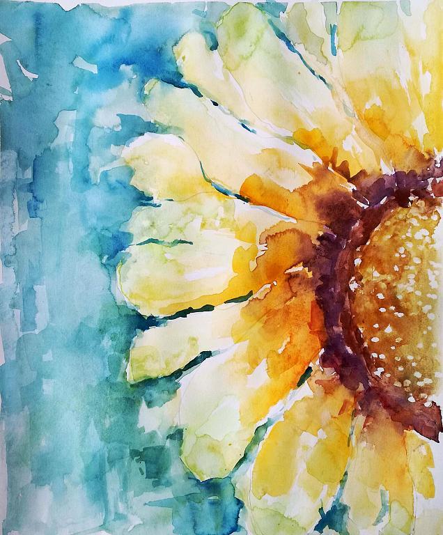 In un giorno di pioggia dipingo il sole  - Carla Colombo - Acquerello - 100 €