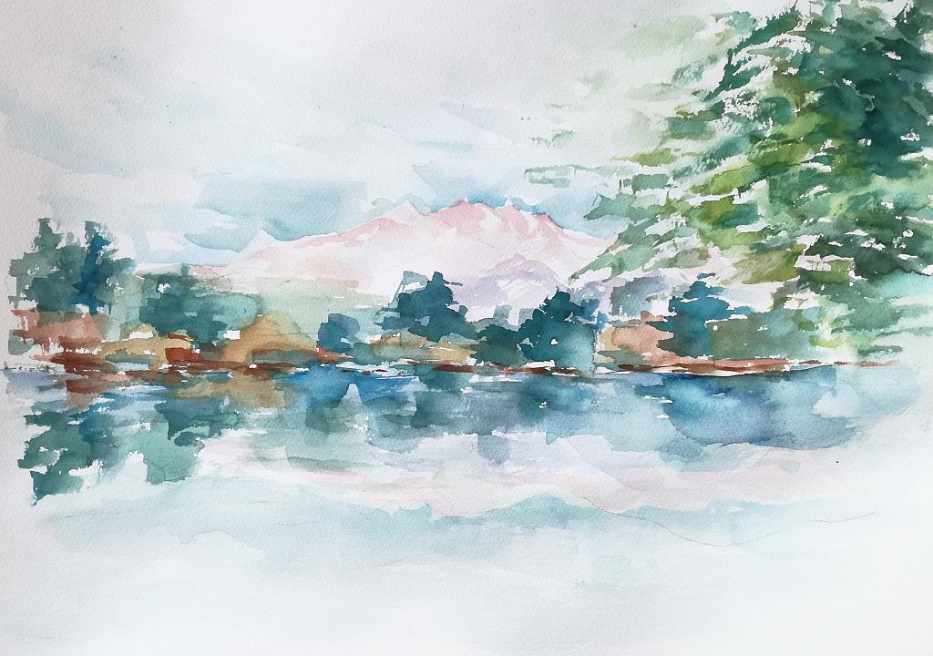 Uno specchio d'acqua  - Carla Colombo - Acquerello - 90 €