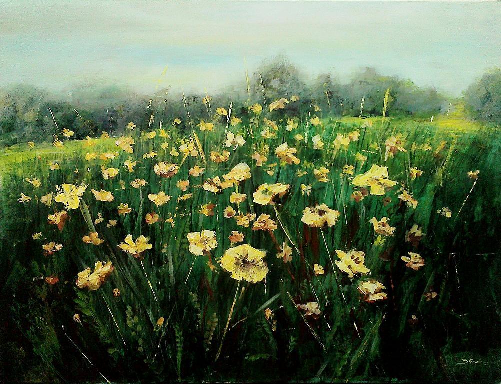 Primavera  - Mery BLINDU - Acrilico
