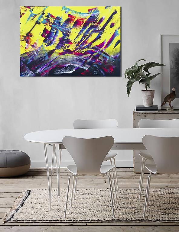 Yellow energy - Davide De Palma - Action painting - 300 €