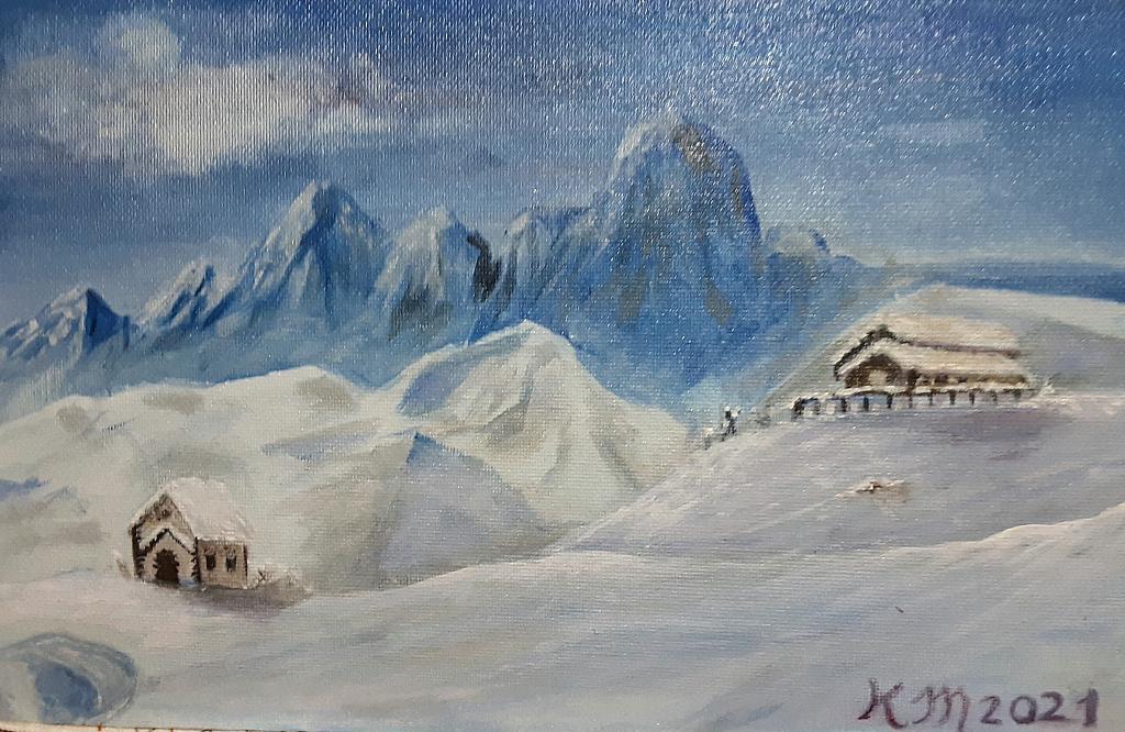 Neve, tanta neve... - Caterina Martinetto - Acrilico