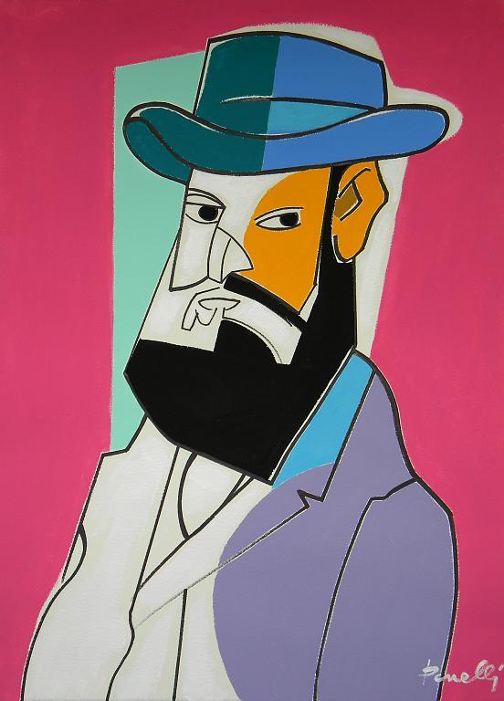 Ritratto di Paul Cezanne - Gabriele Donelli - Acrilico - 2300 €