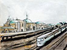 Untitled 44 - Lucio Forte - olio, china, acquerello ed acrilico su tela - 150€