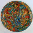 Ferita preziosa - Marisa Milan - colori a freddo su terracotta