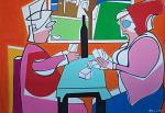 Les joueurs de cartes - Gabriele Donelli - Acrilico - 2200 euro
