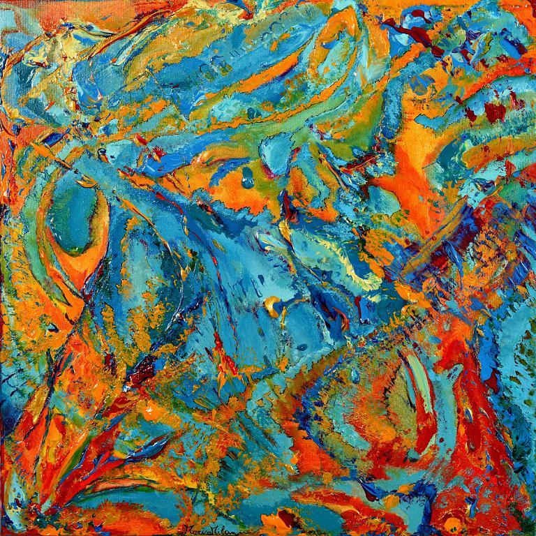 In cammino... Evoluzione - Marisa Milan - Acrilico e olio