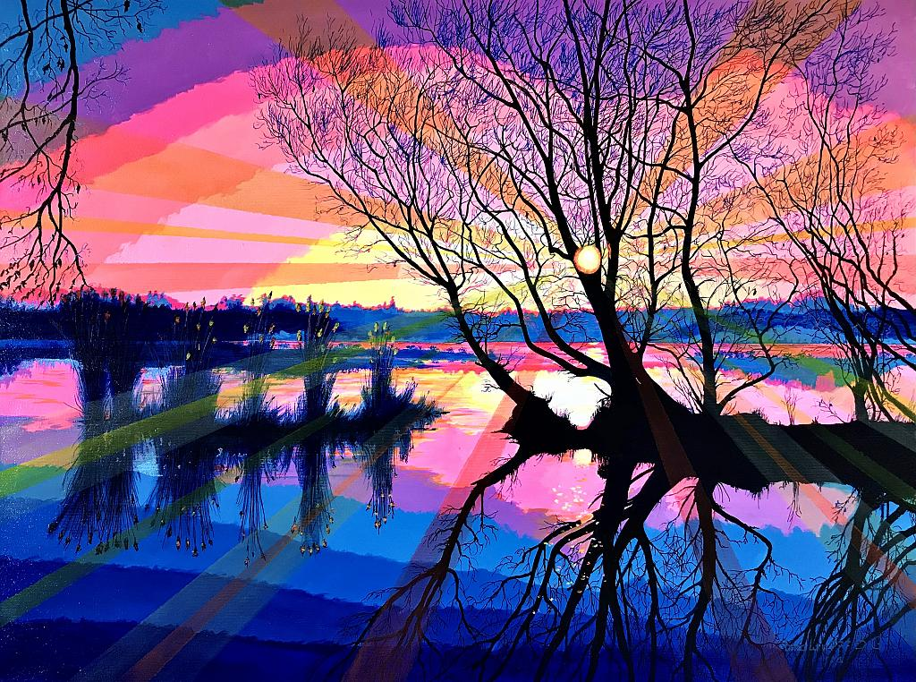 Fiaba di un tramonto - GRECO Bruno - Acrilico