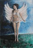 La forza della fragilità con Auguri a tutte le donne - Noemi Piaggesi - Acrilico - 250€