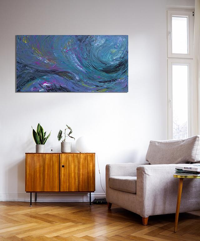 Touche de tempète, 100x50 cm - Davide De Palma - Acrilico - 250 €