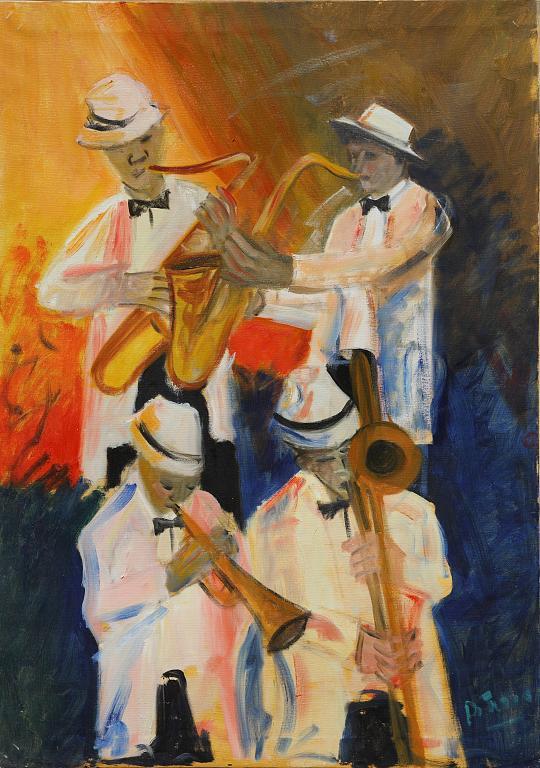 banda jazz - Nino Di Troia - Olio - 400 €