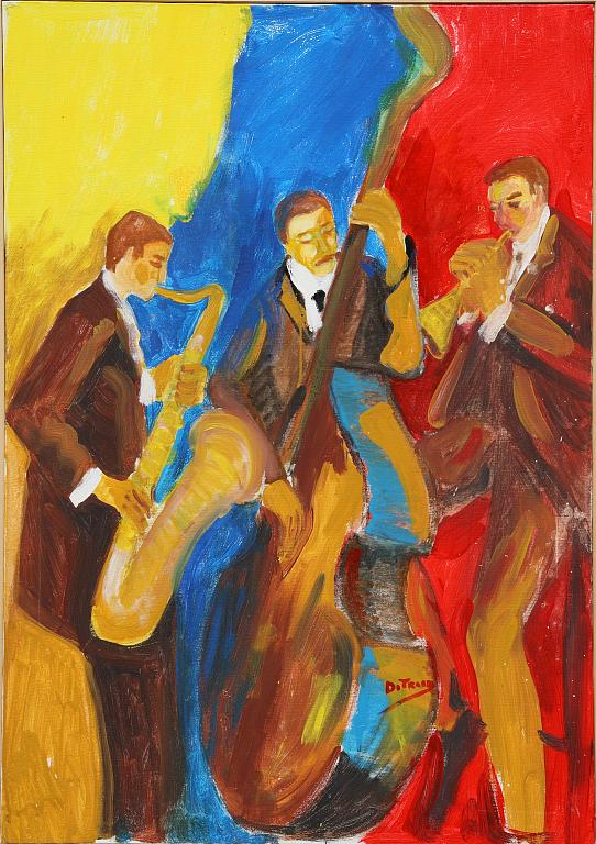 orchestra jazz - Nino Di Troia - Olio - 400 €