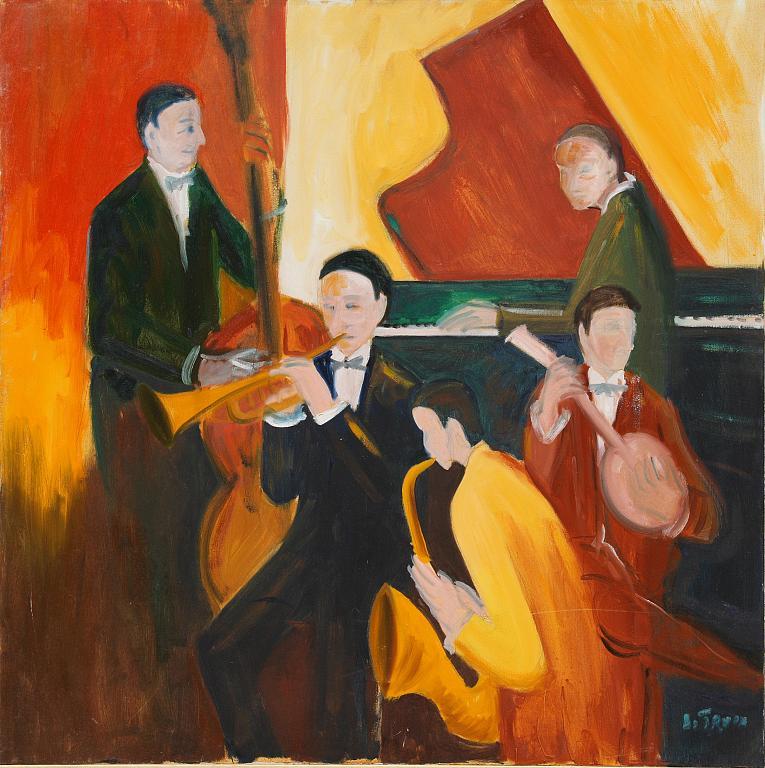 orchestra jazz - Nino Di Troia - Olio - 500 €