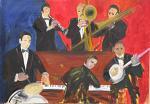 orchestra jazz - Nino Di Troia - Olio - 500€