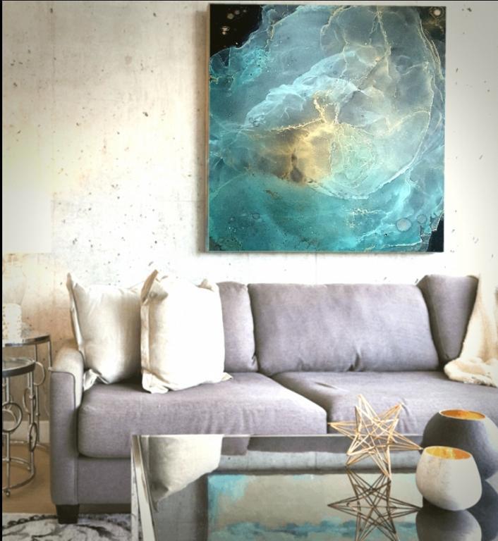 Cosmo - BubArt Studio - Action painting - 100 €