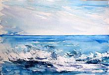 Tra cielo e mare - Carla Colombo - Acquerello - 85€