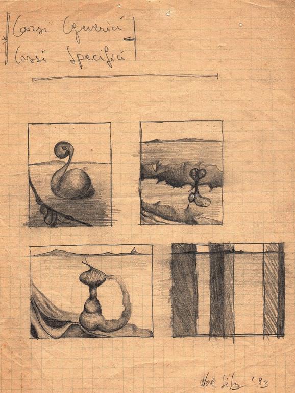 bozzetti per quadri 3 - daniele Rallo  - matita