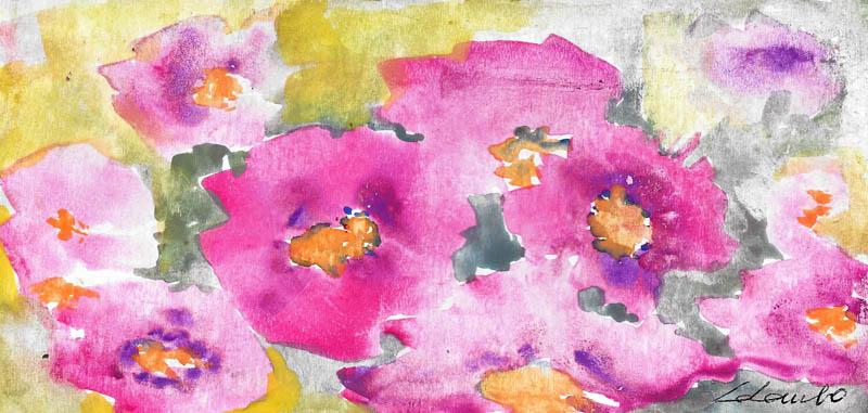 Esplosione di rosa - Prezzo speciale  - Carla Colombo - Acquerello - 18 €
