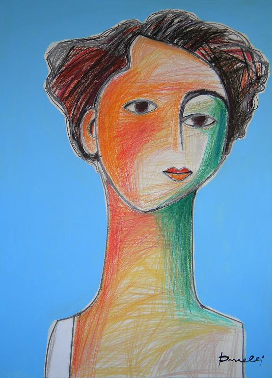 Ritratto di Beatrice Hasting - Gabriele Donelli - Pastello e acrilico - 1800 €