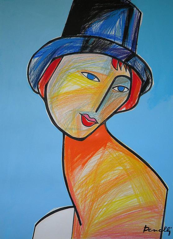Ritratto di Jeanne Hebuterne - Gabriele Donelli - Pastello e acrilico - 1400 €