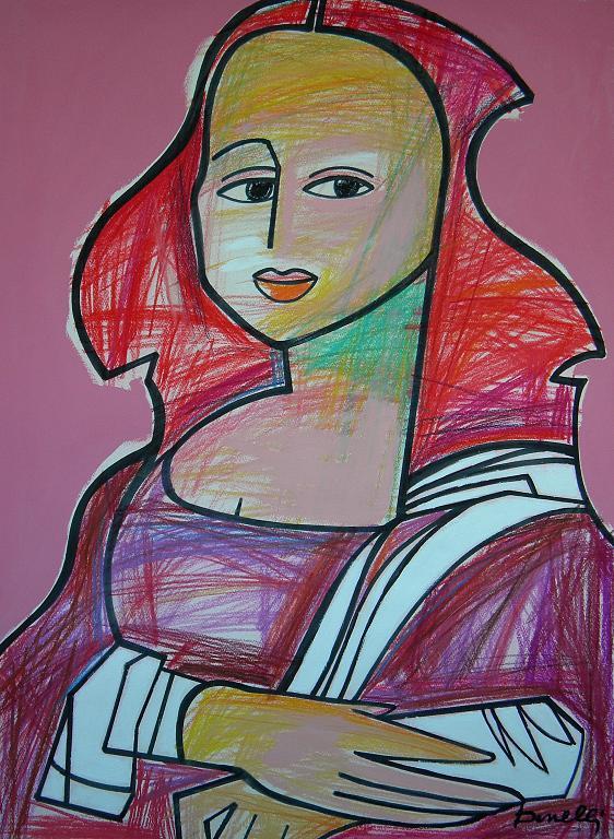 Ritratto di Monna Lisa - Gabriele Donelli - Pastello e acrilico - 1200 €