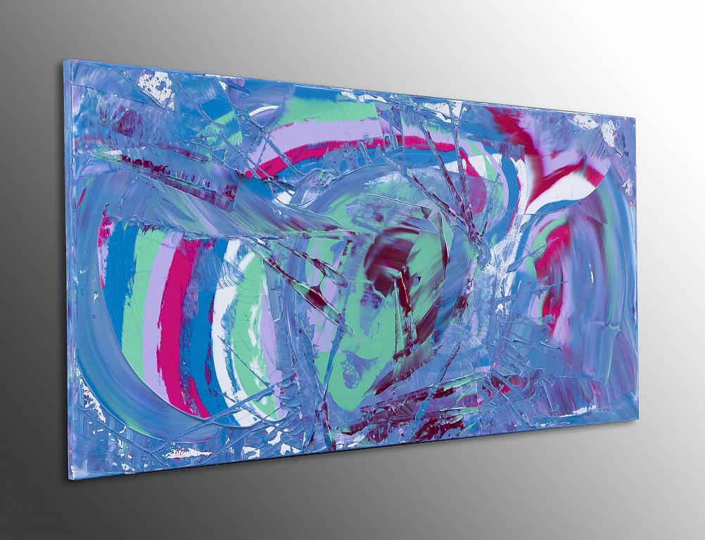 Exuberant, 100x50 cm - Davide De Palma - Action painting - 250 €