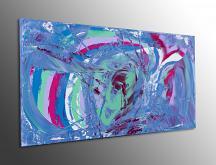Exuberant, 100x50 cm - Davide De Palma - Action painting - 250€