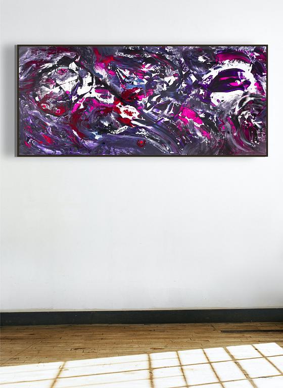 Deep purple, 200x90 cm - Davide De Palma - Action painting - 850 €