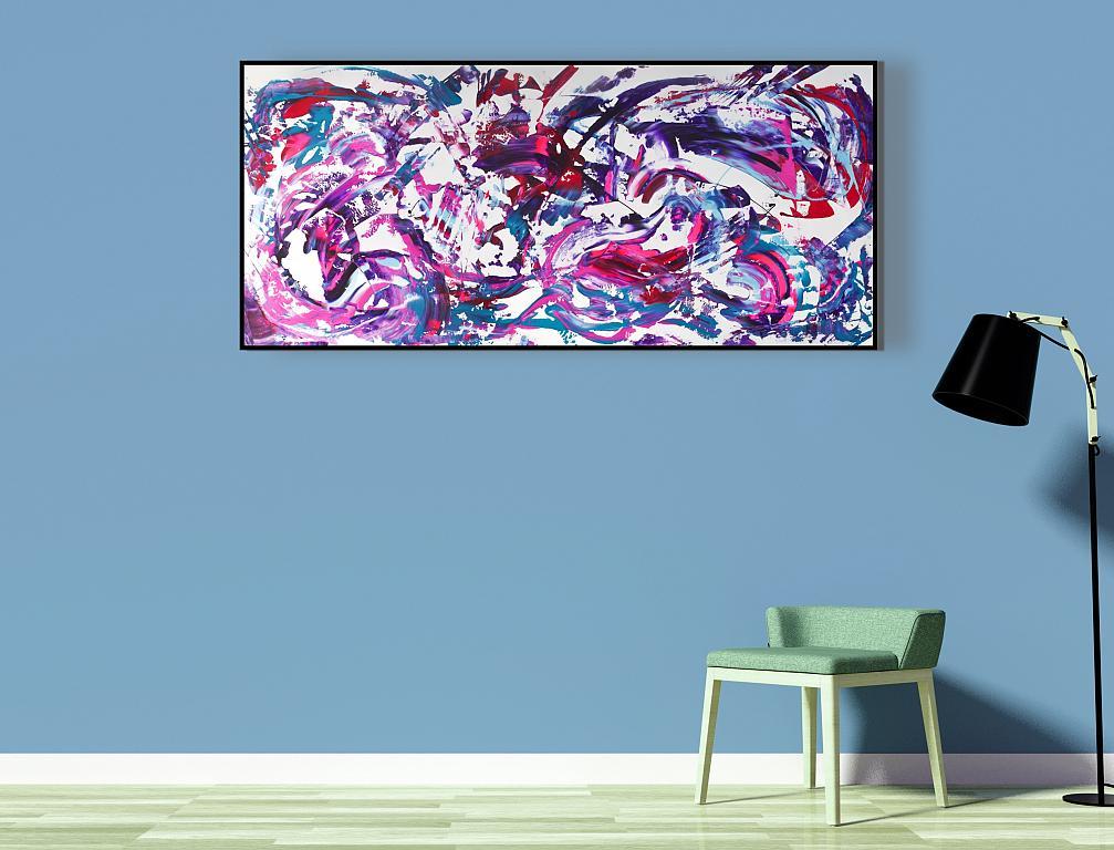 Light purple, 200x90 cm - Davide De Palma - Action painting - 850 €