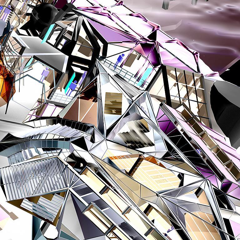 Science Fiction Library cz - Lucio Forte - Digital Art - 79 €