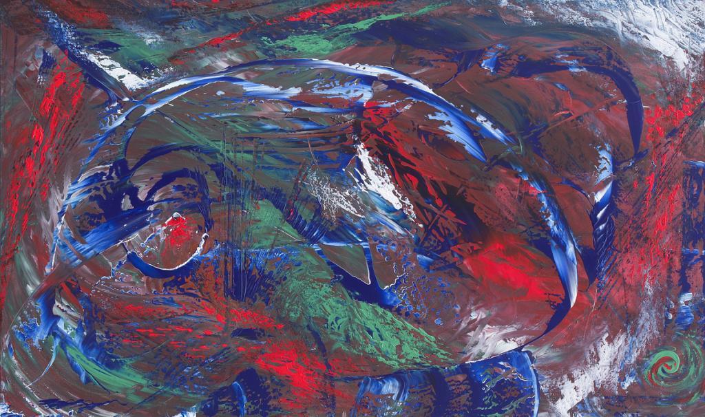 Intense, 100x60 cm - Davide De Palma - Action painting - 350 €